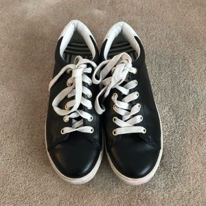 Kate Spade Saturday Black Leather Sneakers Size 8